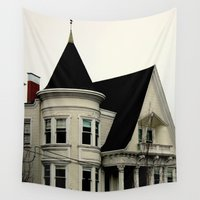 gothic Wall Tapestries featuring Ghostly Gothic by oneofacard