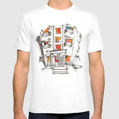 Japanese building Mens Fitted Tee White MEDIUM