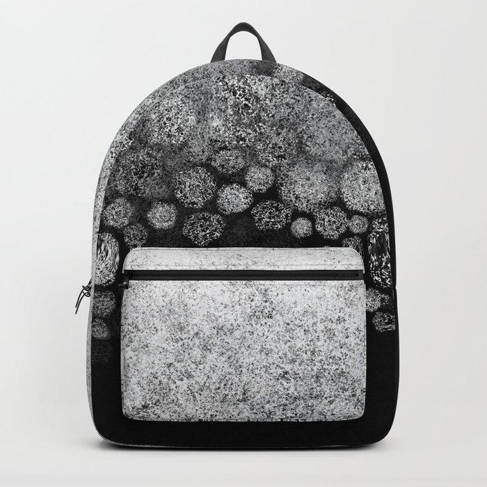 Snowfall on Black Backpack
