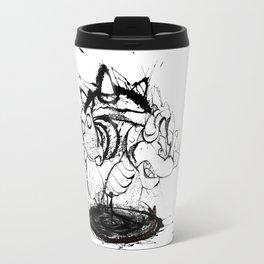 Bowser Inked (White BG) Travel Mug