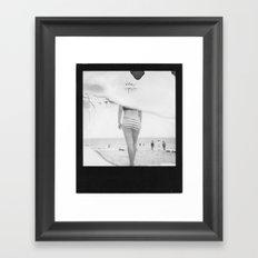 Beach3 BW Framed Art Print