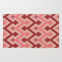 kilim Area & Throw Rugs featuring Kilim in pink by Domesticate