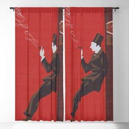 Cigar, Man Smoking a Cigar Vintage Art Blackout Curtain