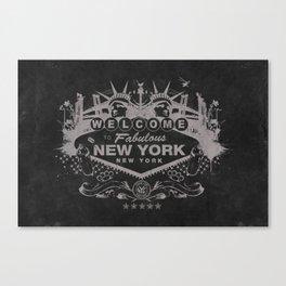 Sin City (Black) Canvas Print