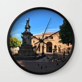 Plaza Colón in Santo Domingo Wall Clock