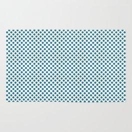 Jelly Bean Blue Polka Dots Rug