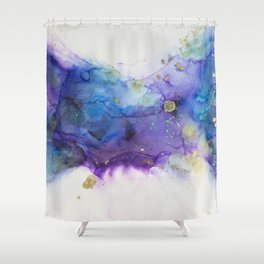 Make a Wish Alcohol Ink Painting Shower Curtain