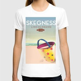 Skegness lincolnshire beach travel poster. T-shirt
