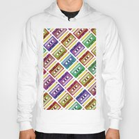 90s Hoodies featuring 90s pattern by Gabor Nemethi