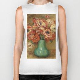 """Auguste Renoir """"Anemones dans un vase vert"""" Biker Tank"""
