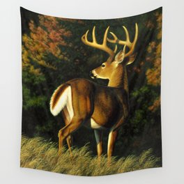 Whitetail Deer Trophy Buck Wall Tapestry