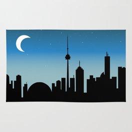 Toronto Skyline - Night Rug