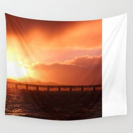 Stormy Sunset Wall Tapestry