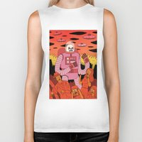 invader zim Biker Tanks featuring Alien Invader  by Jack Teagle