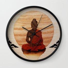 Buddha marquetry Wall Clock