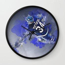 Matthews Leafs Mixed Media Wall Clock