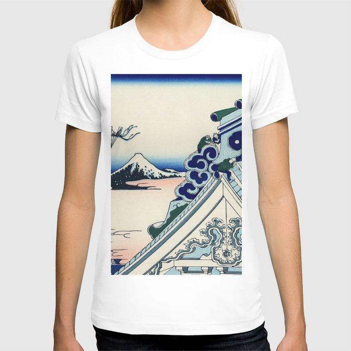 "Hokusai (1760-1849) ""Asakusa Hongan-ji temple in the Eastern capital [Edo]"" T-shirt"