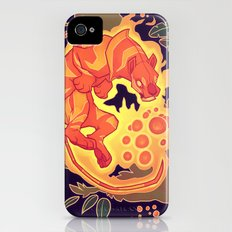 Fire Tiger with Berries Slim Case iPhone (4, 4s)