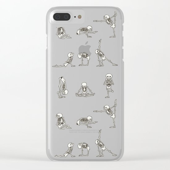 Skeleton Yoga Clear iPhone Case