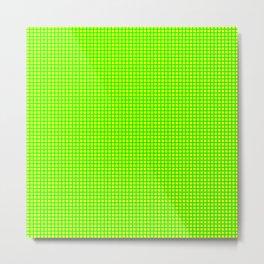 Lime On Lemon Grid Metal Print