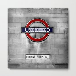 Underground on Charing Cross Road Metal Print