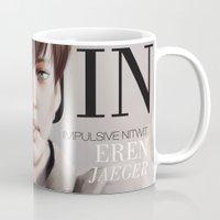 snk Mugs featuring SnK Magazine: Eren by putemphasis