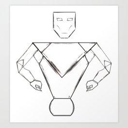 robot pht illustrator Art Print