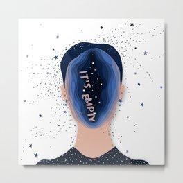 empty head Metal Print