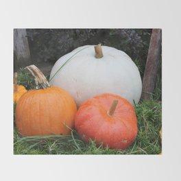 Pumpkin Trio Throw Blanket