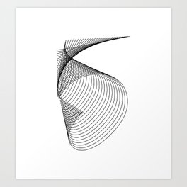 """""""Linear Collection"""" - Minimal Number Five Print Art Print"""