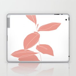 One line plant drawing - Berry Pink Laptop & iPad Skin