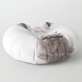 Baby Rhino Portrait Floor Pillow