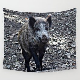 Emma the wild sow Wall Tapestry