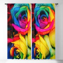Rainbow Roses Blackout Curtain