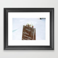 Outside the Coffee Shop Framed Art Print