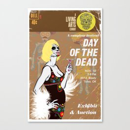 Day of the Dead Exhibition Poster Canvas Print