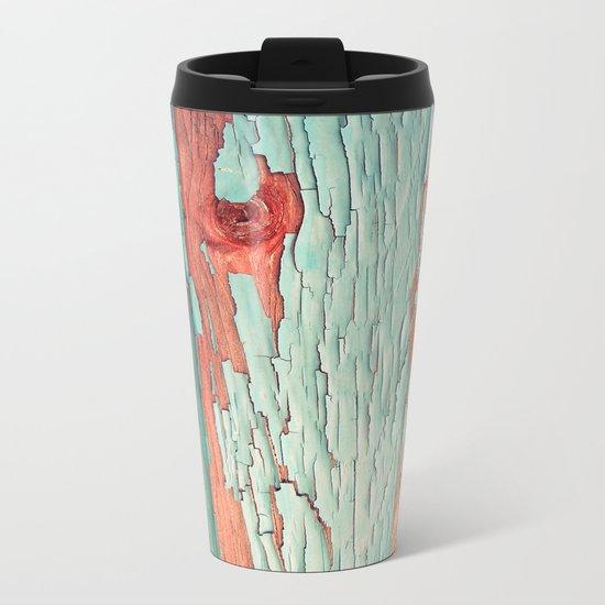 Old Wood 08 Metal Travel Mug