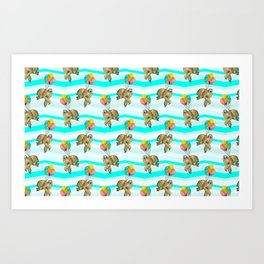 sloths in the air Art Print