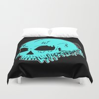 sarcasm Duvet Covers featuring Dripping With Sarcasm by zombieCraig by zombieCraig