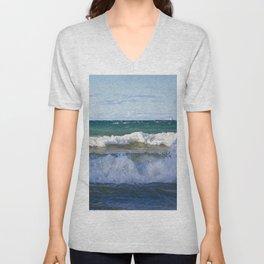 Huron Waves Unisex V-Neck