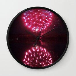 Big Red Fireballs Wall Clock