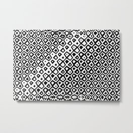 Asymmetry collection: black and white geometry Metal Print