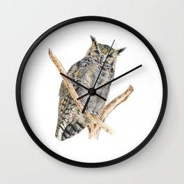 Tucu the Lesser Horned Owl Wall Clock