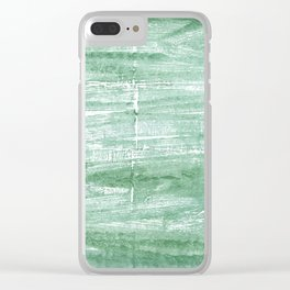 Turquoise green Clear iPhone Case