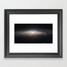 UFO Galaxy Framed Art Print