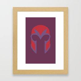 Magneto Helmet Framed Art Print
