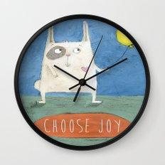 Choose Joy Wall Clock