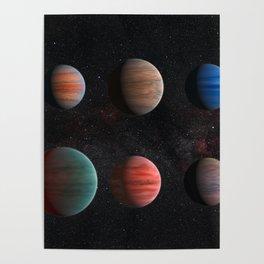 Planets : Hot Jupiter Exoplanets Poster