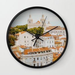 Afternoon in Lisbon Wall Clock