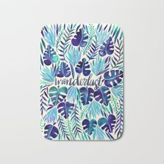 Tropical Wanderlust – Blue Bath Mat